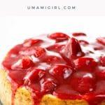 strawberry sauce on cheesecake