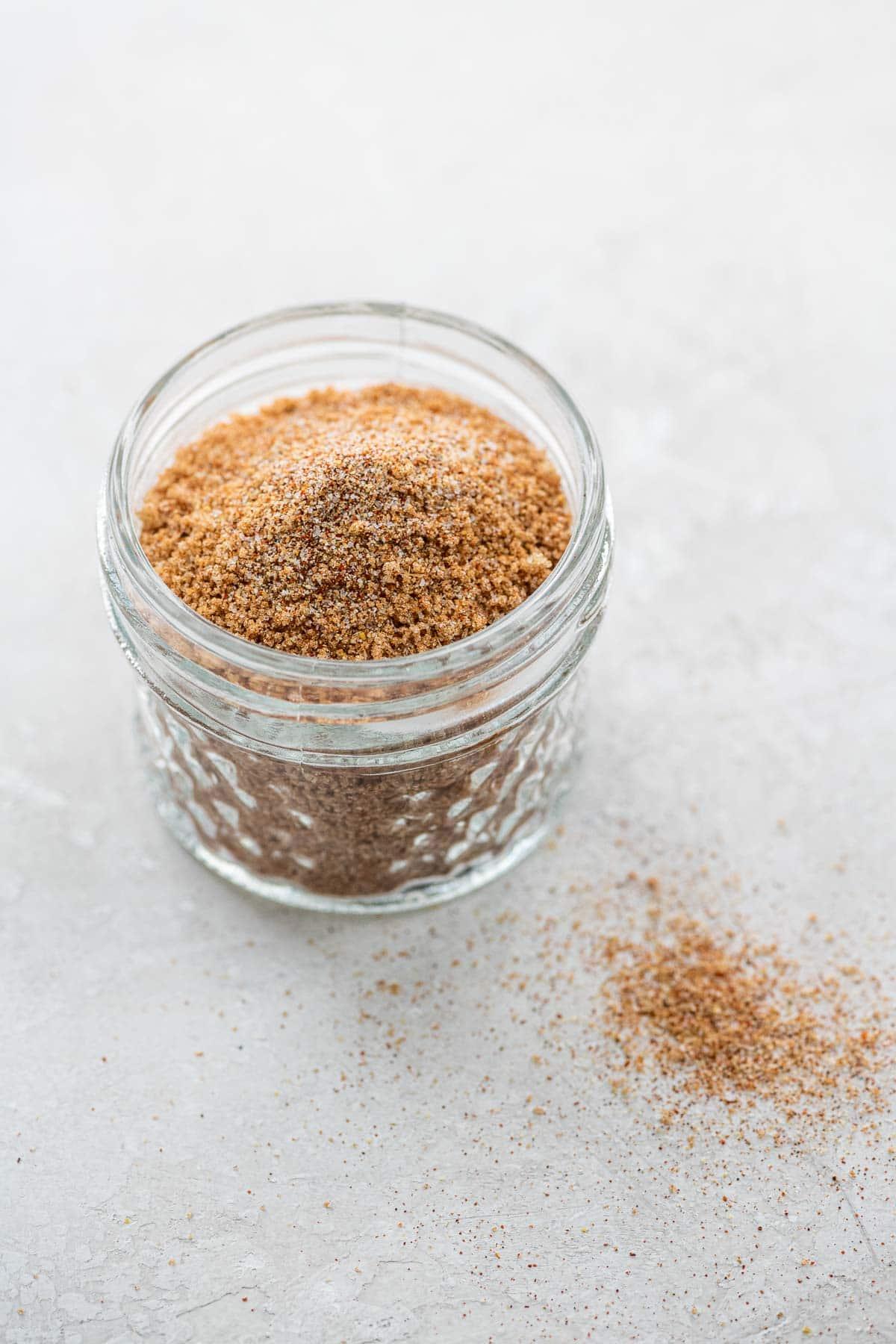 bbq rib rub in a small jar
