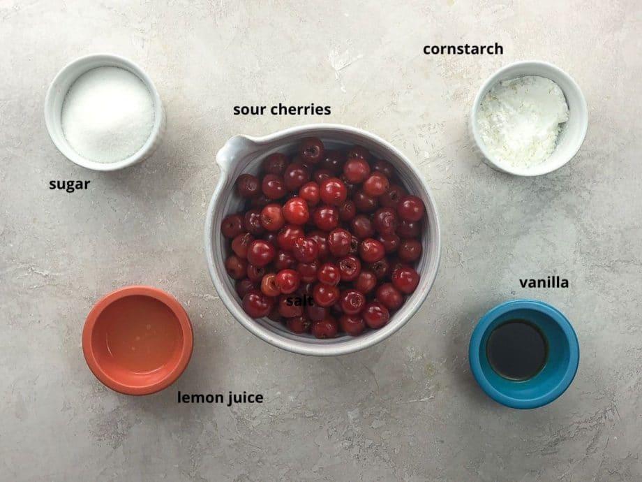 filling ingredients in bowls