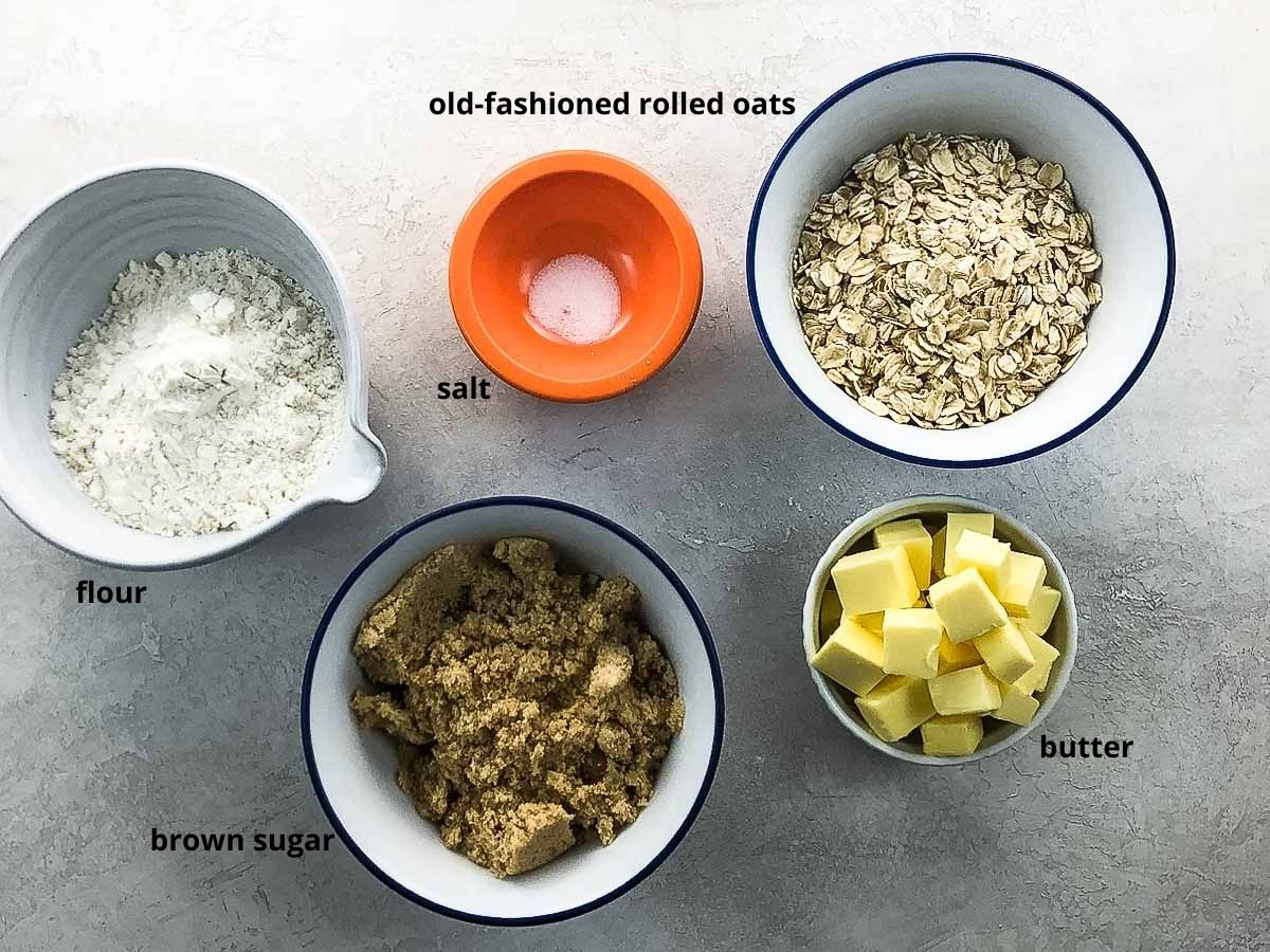 topping ingredients in bowls