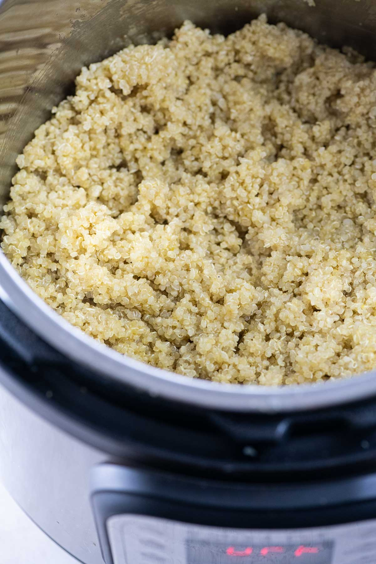 perfectly cooked quinoa in an Instant Pot