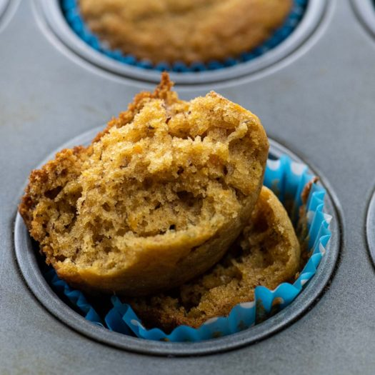 Banana Sweet Potato Muffin in a muffin tin for Best Kid Friendly Recipes
