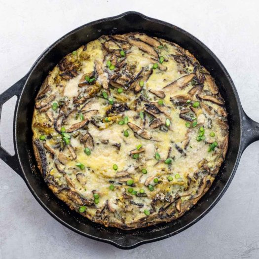 frittata in a cast iron skillet for best low carb recipes category