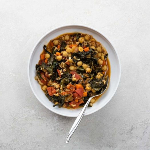 kale and chickpea stew for best vegan recipes category