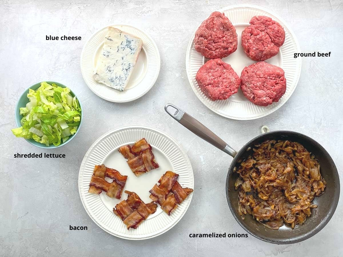 ingredients on plates